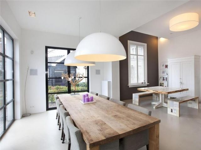 lovely family dining table with beautiful doors/windows