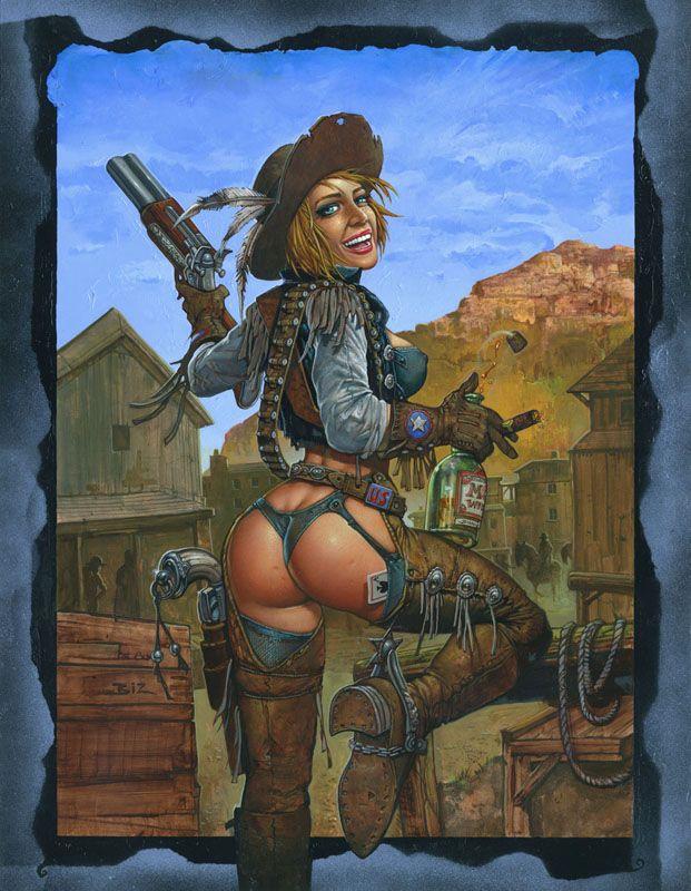 Simon Bisley Women | Simon Bisley Famous Women #8 Original Art - Calamity Jane