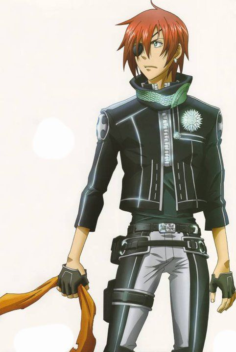 (D. Gray Man) my big sister said the name Lavi sounded gay so i was all like lol thats not true at all despite his appearence. you have to watch the anime to understand. STRIKE!