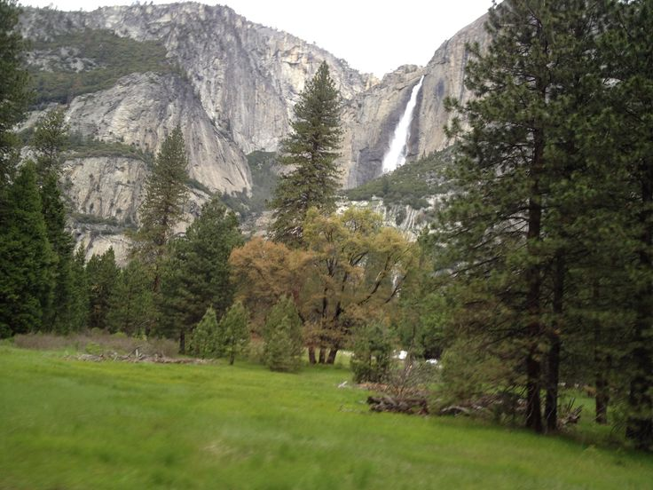 Bridalveil fall in Spring time, Yosemite national park