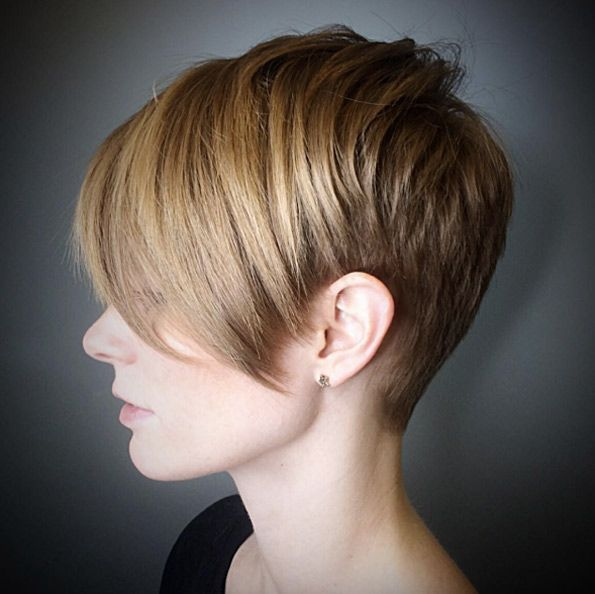 Angled pixie cut by Courtney