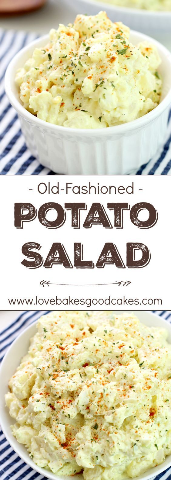 Old-Fashioned Potato Salad ~ sometimes simple is best, and this classic potato salad recipe tastes just like grandma made it!