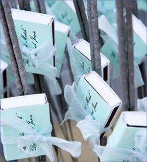 Matchbox with Sparklers Favor  - Sparkler Wedding Favors