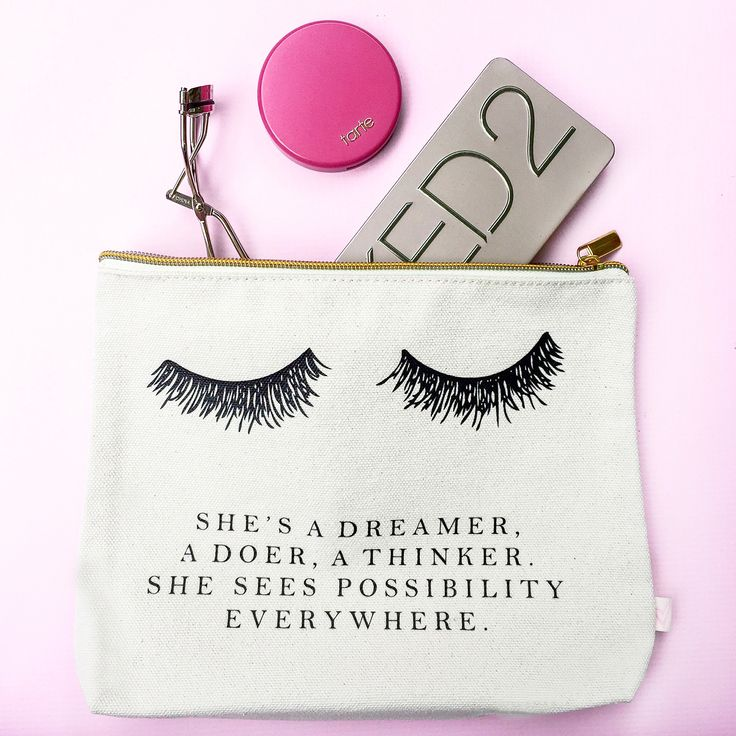 """Keep all of your makeup and beauty essentials all in one spot in our gorgeous makeup bags. Perfect for home and traveling on the go! ♥ 8""""x9"""" with a 1.5"""" Bottom to Hold all of Your Essentials ♥ Cotton"""
