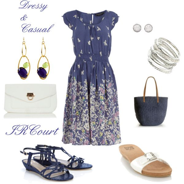 Dressy & Casual, created by ircourt on Polyvore: Pretty Clothing, Fashion Passion, Sky Blue, Favorite Things, Fashion Ideas, Dreams Closet, Meow Fit, Fit Fit