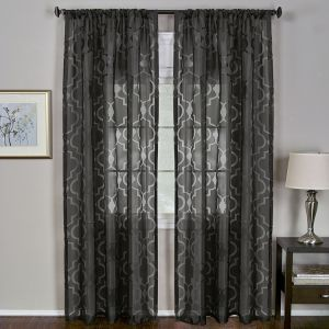 Sheer Burnout Curtain Panels 2499