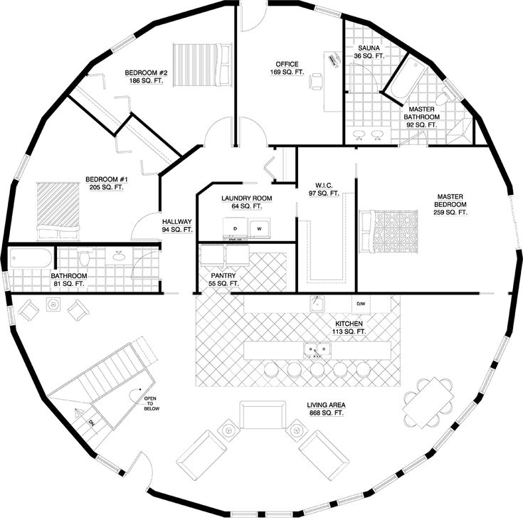 Dome Home Blueprints: 1000+ Ideas About Round House Plans On Pinterest