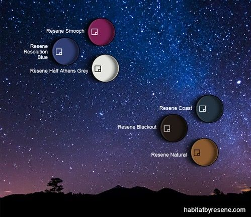 There's a constellation of colour to be found in the night sky.