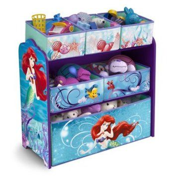 Disney Little Mermaid Multi-Bin Toy Organizer If you have a toddler or a little girl , I bet they would love to live in a Little Mermaid bedroom or bathroom. In fact the Little Mermaid home décor theme has been especially trendy for girls bedroom decoration ideas. You can use little mermaid bedding and little mermaid bathroom décor to make a true Disney Little Mermaid princess happy! You can also accent your little mermaid bathroom with little mermaid beach towels and little mermaid wal...