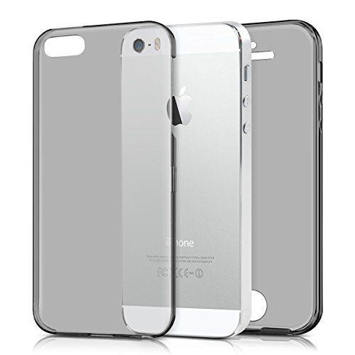 kwmobile Funda para Apple iPhone SE / 5 / 5S Case Full Body de silicona TPU - Carcasa completa en negro - http://www.tiendasmoviles.net/2017/11/kwmobile-funda-para-apple-iphone-se-5-5s-case-full-body-de-silicona-tpu-carcasa-completa-en-negro/