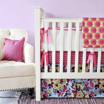 mint green, pink and red baby room - Google Search