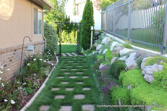 creating a welcoming entrance to the backyard, concrete masonry, fences, gardening, lawn care, outdoor living