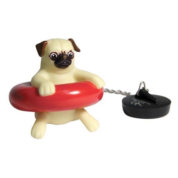 Bouchon baignoire chien carlin bath pug