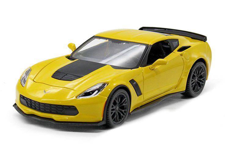 2015 Chevrolet Corvette Stingray C7 Z06 yellow diecast model car by Maisto.