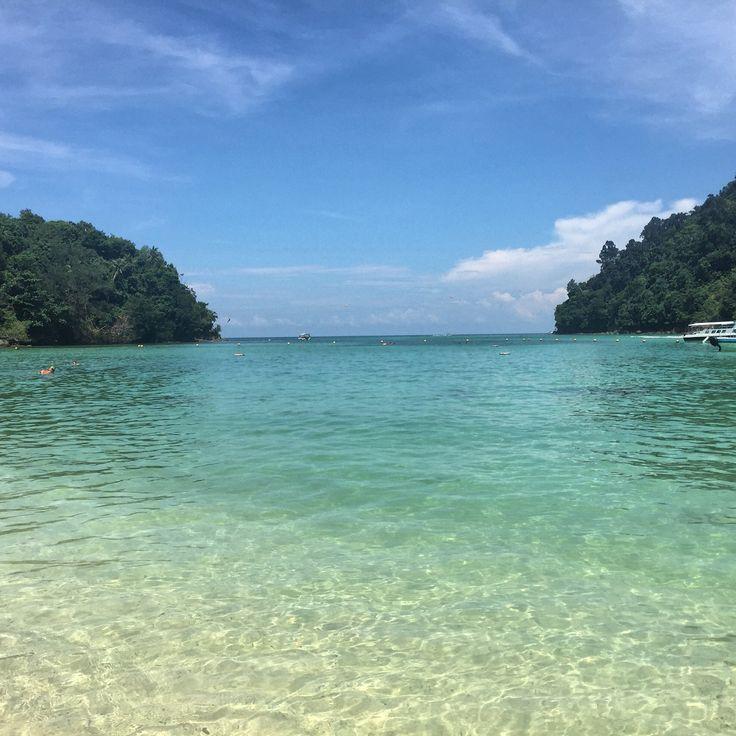 One of the many islands of Malaysia, Sapi Island off Kota Kinabalu