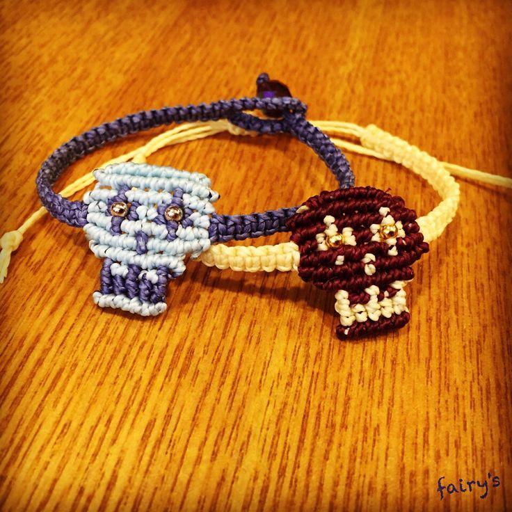 #macrame #skull #bracelet