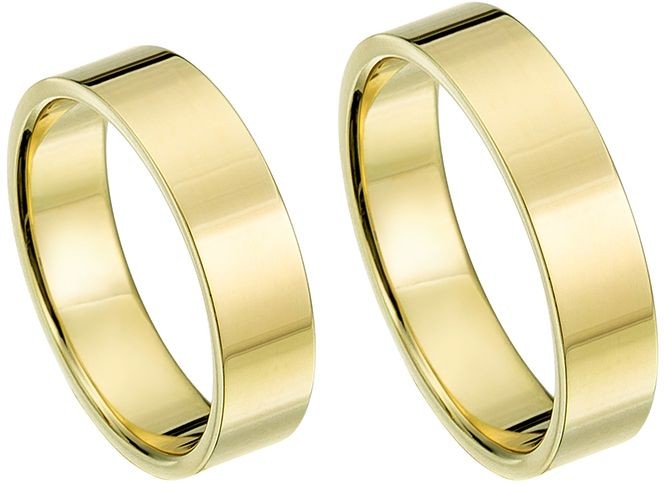 Trouwringen Eindhoven. Prachtige geelgouden ringen. Super strak vormgegeven en snel leverbaar. Ringen tot wel 40% korting. Bestel nu. - &euro