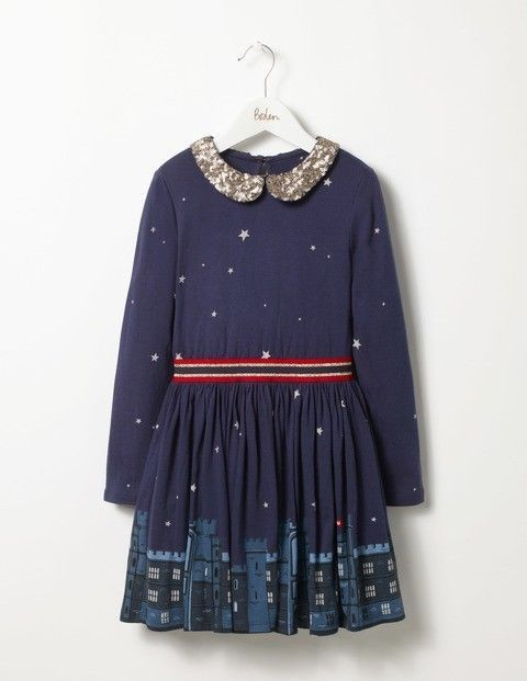 aac015d3cbac1 Size 4-5 Mini Boden Navy London Christmas Holiday Dahl Sequin Jersey Party  Dress #fashion #clothing #shoes #accessories #kidsclothingshoesaccs ...