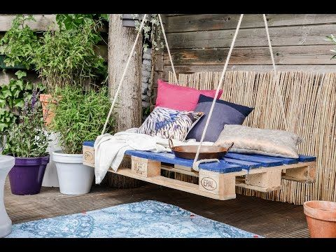 DIY: Pallet hangbank maken | Stek Magazine woonapp