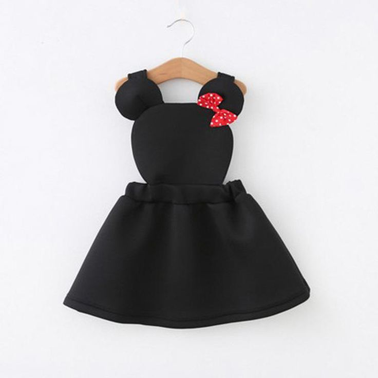 This Minnie Mouse overalls dress is too cute!