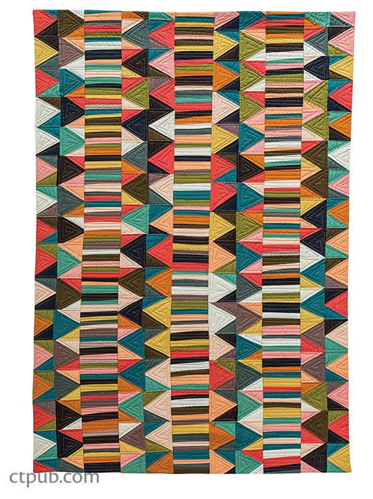 IMPROV PATCHWORK Dynamic Quilts Made with Line & Shape