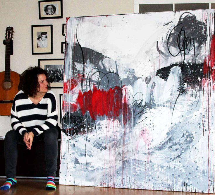grosse abstrakte gemalde kaufen formate als auftragsmalerei oder im shop abstrakt malerei moderne in acryl rote bilder