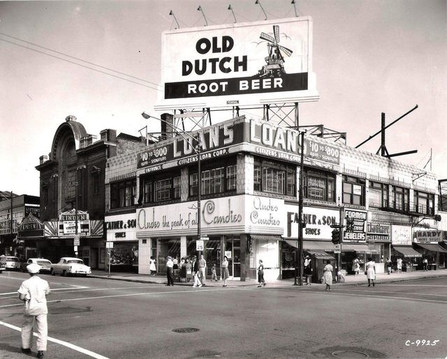 Summer 1959, Photo courtesy of Ted Okuda. The Linden Theater was one of many theaters in the Englewood neighborhood of Chicago. It was located on the south side of 63rd Street just east of Halsted Street. It was opened prior to 1895. In 1914 it was briefly renamed Winchester Theater.