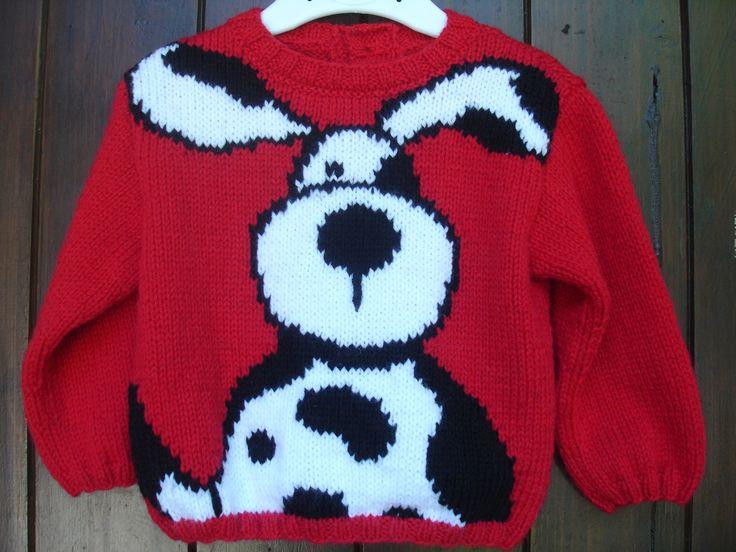 Pull bébé et enfant de 1 an à 6 ans motif chien 100% fait main : Mode garçons par souricette-creation