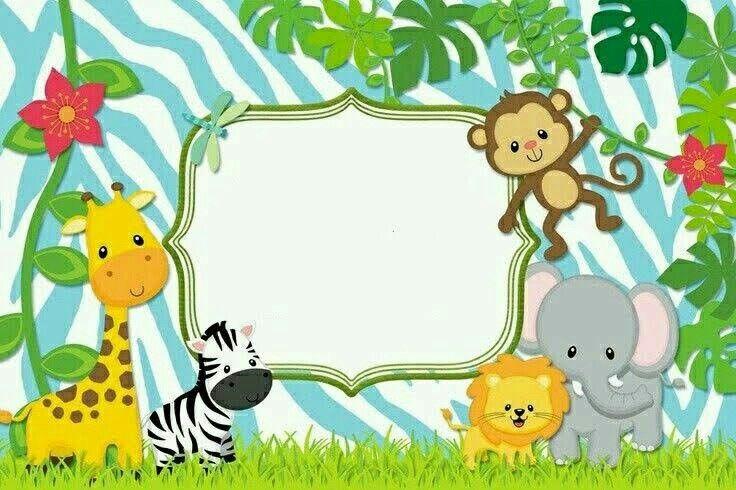 Pin De La Martina En Selva Safari Cumpleaños