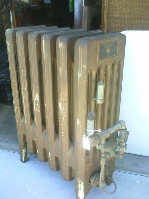 Vintage 1926 Clow Gasteam Radiator Heater Home