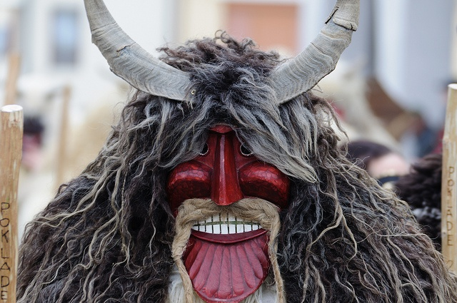 """The origins of the Busójárás Carnival in Mohács are pagan. During the six day pre-Lent festival, locals wearing sheepskin costumes parade and dance in the streets to celebrate the end of winter. The carnival ends with a symbolic ritual called 'The Burial of Farsang"""" in which a coffin is lit symbolizing the burial of all bad things that have happened throughout the year."""