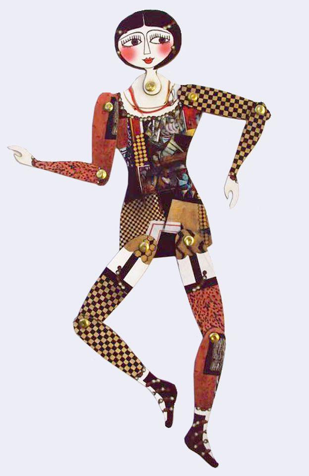 muñeca articulada vestida x Max Weber