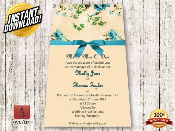 Hey, I found this really awesome Etsy listing at https://www.etsy.com/listing/233620380/instant-download-2in1-wedding-card-fully