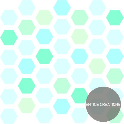 Hexagon Design Visit: www.enticecreations.wordpress.com or follow @enticecreations on Instagram