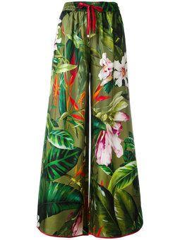tropical print palazzo pants