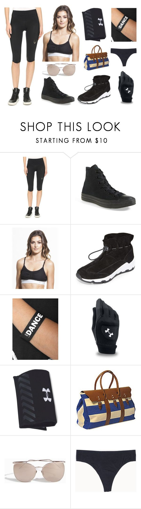 """""""Sneakers and dress"""" by gadinarmada-1 ❤ liked on Polyvore featuring Lucas Hugh, Converse, Splits59, Opening Ceremony, Peace Love World, Under Armour, Linda Farrow, Knixwear, sneakers and SNEAKERSANDDRESSES"""
