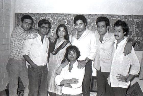 "Stars of iconic Hindi film, ""Jaane Bhi Do Yaaro"" Nasserudin Shah, Kundan Shah(dir), Neena Gupta, Satish Shah, Om Puri, Pankaj Kapur and Ravi Baswani"