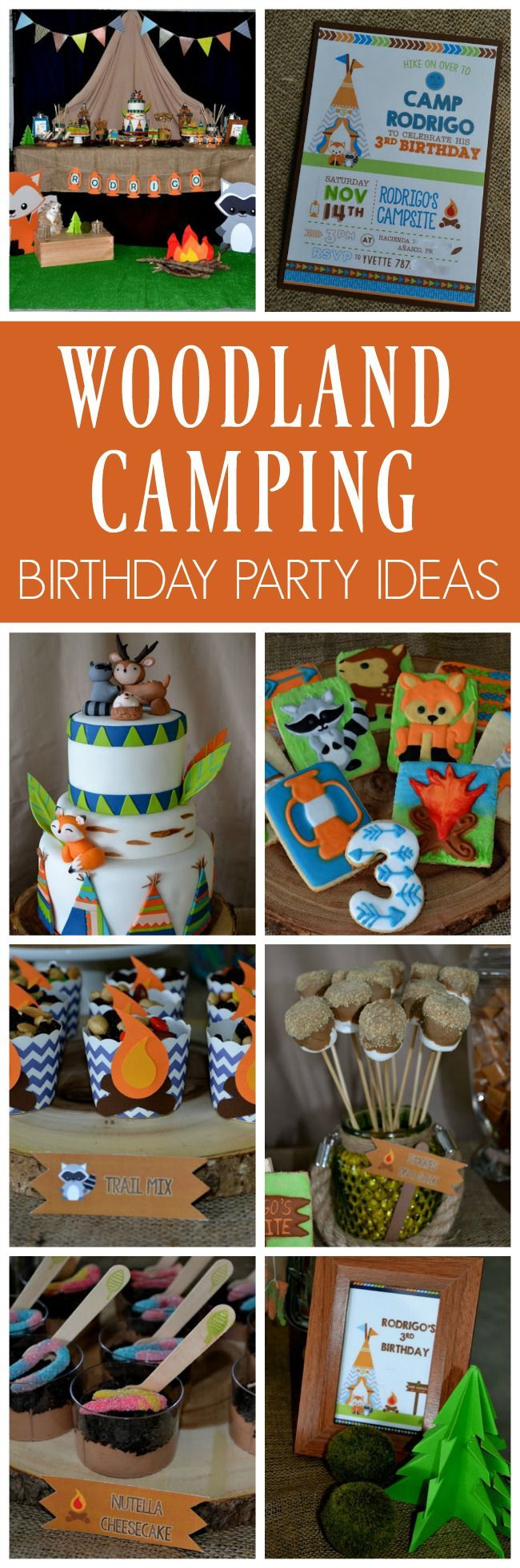 Woodland Camping Birthday Party   Pretty My Party