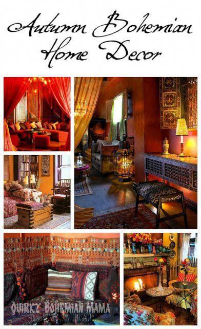 Autumn Inspired Bohemian Home Decor #Shabbychicbedrooms Shabby