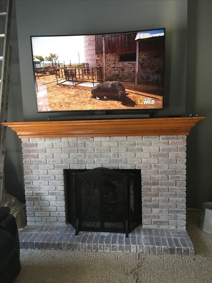 1000 Ideas About White Washed Fireplace On Pinterest