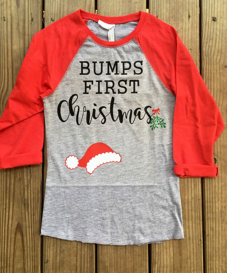 Bumps First Christmas raglan, bumps First Christmas, Christmas maternity shirt, Christmas pregnancy announcement, Christmas raglan tshirt, bumps First Christmas, pregnancy announcement A personal favorite from my Etsy shop https://www.etsy.com/listing/467212524/bumps-first-christmas-bumps-first