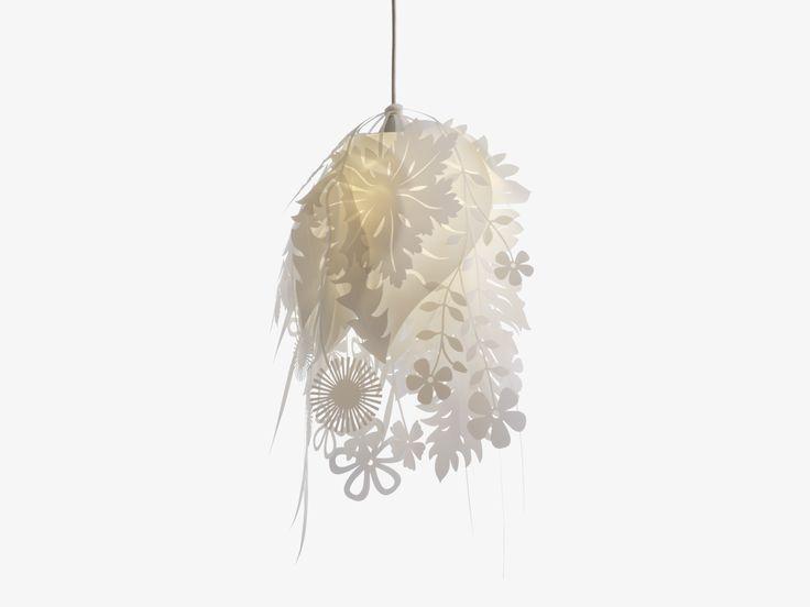 Bouquet whites plastic white floral ceiling light shade habitatuk