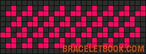 Alpha Friendship Bracelet Pattern #7367 - BraceletBook.com