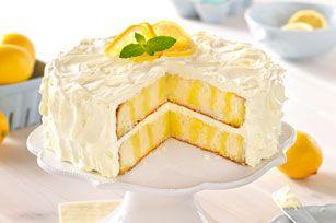 Délicieux gâteau fourré au citron