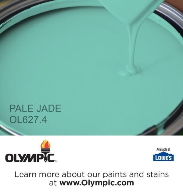 Pale Jade Paint Color Glidden Colors Aqua Olympic House