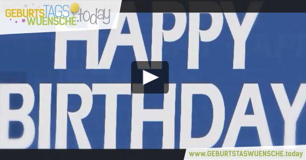 Geburtstagswünsche mit einem lustiges Geburtstagsvideo. Happy Birthday!