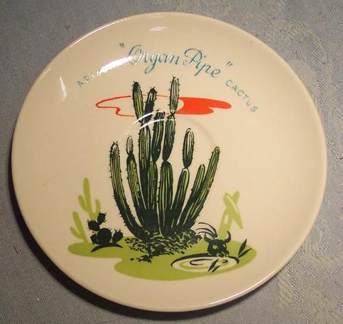 vintage dinnerware   vintage advertising saucer arizona cactus dinnerware blakely gas ...