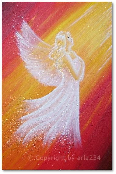 Limited angel art photo in the light of the angel by HenriettesART