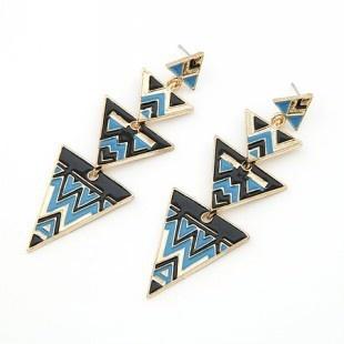 7. Geometric patterns earrings $16