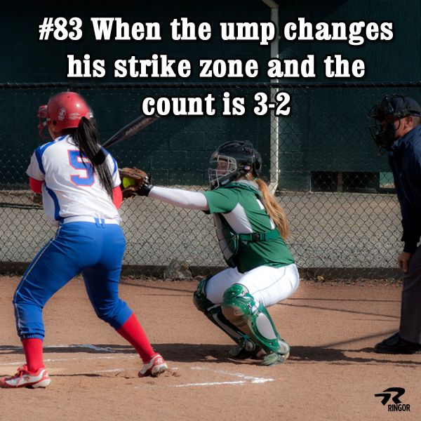 Softball - #softballproblems #83 When the ump changes his strike zone and the count is 3-2. #softballstrong